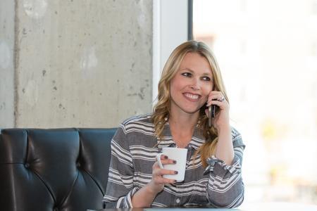 Ashley on phone